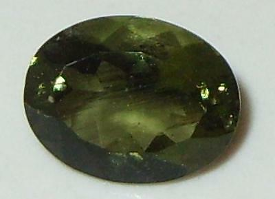 1.43ct Faceted TOP QUALITY Natural Czechoslovakia Moldavite Oval Cut 9x7mm