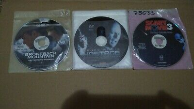 Lote surtido 3 peliculas DVD Brokeback mountain Hostage Scary movie 3