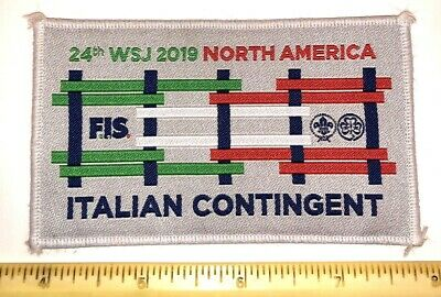 Italy Italian Contingent Badge Patch 2019 24th World Boy Scout Jamboree - MINT