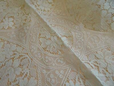 A Beautiful Antique French Lace Table Cloth Still Starched Unused C.1920's