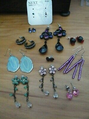 Eleven pairs of earrings, various styles from Next & unbranded