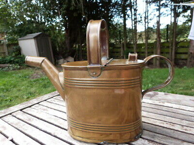 Lovely Antique Victorian Brass Watering Can.
