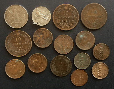 Italy collection of 15 19th & early 20th century base metal coins