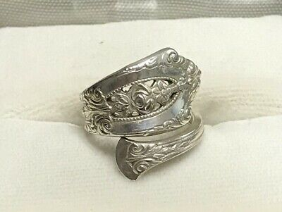 Elegant Vintage Sterling Silver Spoon Ring - Wallace - size 3.5
