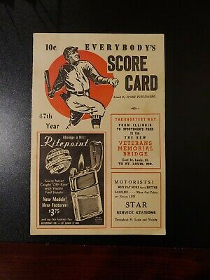 Vintage 47th Year St. Louis Cardinals/ Cincinnati Scorecard