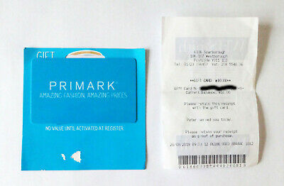 Primark Gift Card £10 Value
