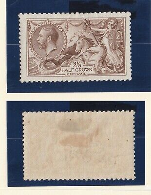 Lot:31868  GB George V  SG413a 2s6d olive brown mounted mint  1918