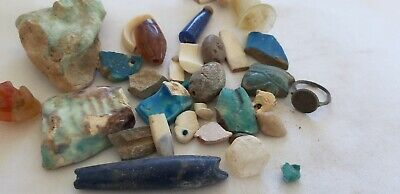 Authentic Ancient Egyptian Faience Mummy Mixed Bead ,Artifact Old  1200 BC