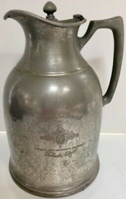 Rare Engraved Antique Stanley Insulating Co. Pitcher, 1915-1921