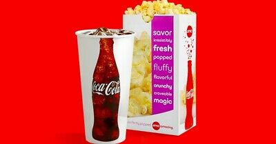 AMC Theater 1 Large Popcorn & 1 Large Fountain Drink *** emailed to you***