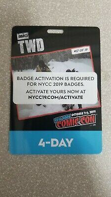 NYCC NEW YORK COMIC CON 2019 4-DAY PASS ACTIVATED READY TO SHIP on hand