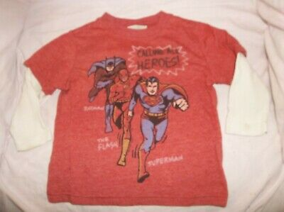"Boys Junk Food/Baby Gap top size 12-18 mo--GUC--red, ivory L/S, ""Calling all her"