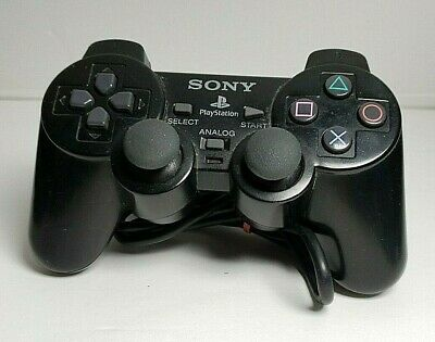 Official OEM Sony PlayStation 2 PS2 Black Dual Shock COntroller SCPH-10010