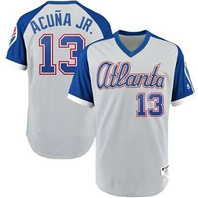 Atlanta Braves - Ronald Acuña Jr #13 Majestic 1979 TBTC Authentic Player Jersey