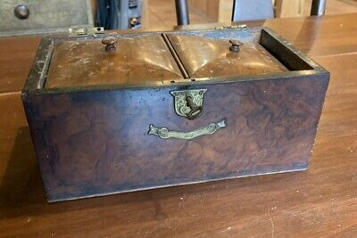 Late 18th Century/ Early 19th Century Tea Caddy Burl Box (needs restoration)