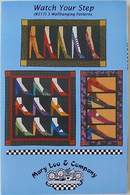 Mary Lou & Company Watch Your Step High Heel Shoes Quilt Wallhanging Patterns