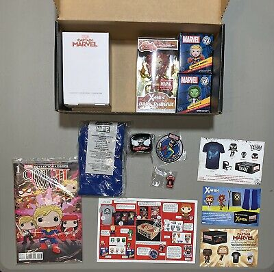 Marvel Collector Corps Lot of Extra Stuff, Funko Pop, Socks, Glass, Pin