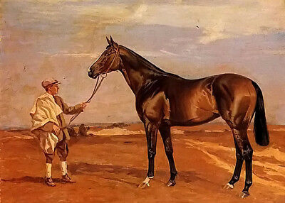 Dream-art Oil painting james lynwood palmer - golden corn man with horse canvas