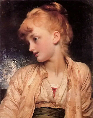 Dream-art Oil painting Lord Frederick Leighton - gulnihal nice young girl canvas