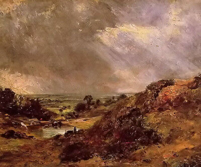 Dream-art Oil painting john constable - branch hill pond hampstead before storm