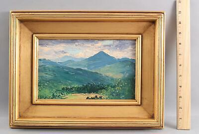 Antique WILL HUTCHINS American Impressionist Mountain Landscape Oil Painting