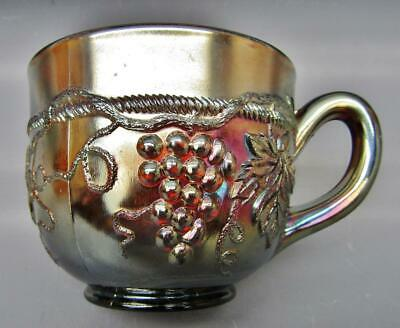 Northwood GRAPE & CABLE Amethyst Carnival Glass Punch Cup 7165