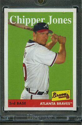 2019 Topps Archives Baseball 1/1 Blank Back. Chipper Jones BRAVES