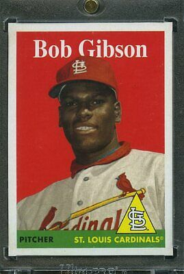 2019 Topps Archives Baseball 1/1 Blank Back. Bob Gibson CARDINALS