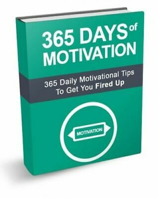 365 DAYS OF MOTIVATION with 10 BONUS  E BOOKS- Master Resell Rights- PDF
