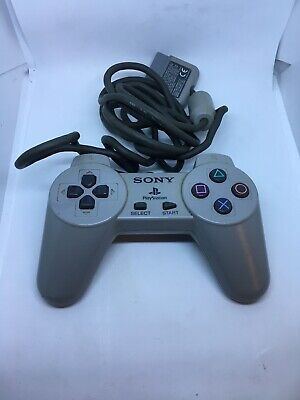 Official Sony Playstation Ps1 Controller Oem Scph-1080 Gray Psx Used