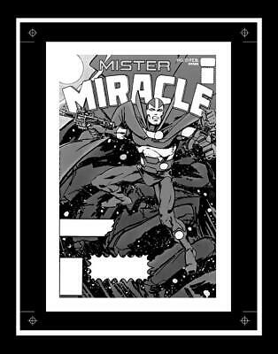 Marshall Rogers Mister Miracle #22 Rare Production Art Cover Mono