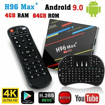 H96 MAX Plus+ Smart TV Box 4GB+64GB Android 9.0 Quad Core WIFI USB3.0 + Keyboard