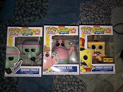 Funko Pop! Spongebob Squarepants, Patrick Star, Squidward Tentacles