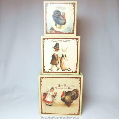 Bethany Lowe Designs ~ THANKSGIVING NESTING BOXES ~ Set of 3