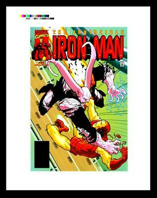 Kaare Andrews Iron Man #34 Rare Production Art Cover