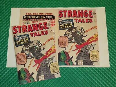 Strange Tales #101 Beautiful Repro Cover Only w/Original Ads Torch Begins Marvel