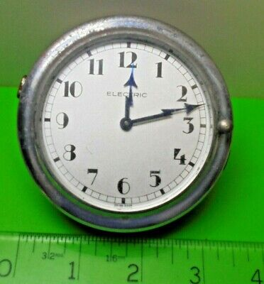 OLD 1930s SWISS QUALITY VINTAGE MOTORING CAR DASHBOARD ELECTRIC REMONTOIRE CLOCK