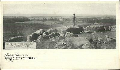 Gettysburg PA Summit Little Round Top c1900 Private Mailing Card