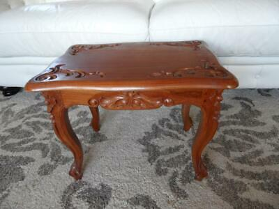 Vintage Carved Ornate wooden side table plant stand drinks table french style