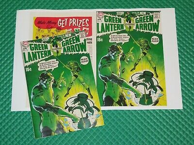 Green Lantern #76 Beautiful Repro Cover Only w/Original Ads 1st GL+GA Neal Adams