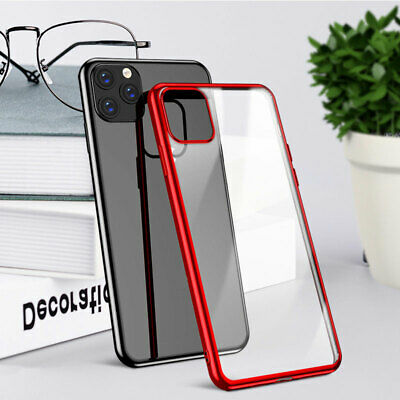 Plating Soft TPU Case For iPhone 11 Pro Max X 8 7 6 Clear Ultra Slim Back Cover