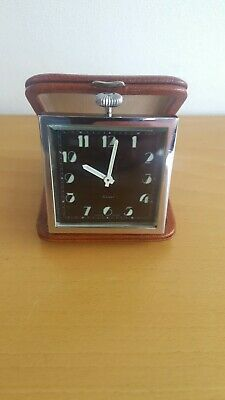 Vintage Art Deco Travel Clock. Swiss Made 8 Days. Running Accurately