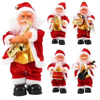 AU Electric Santa Claus Music Father Christmas Figure Singing Dancing Doll Xmas