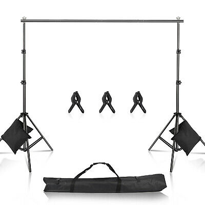 3M/10FT Adjustable Background Crossbar Kit Support Stand Photography Backdrop