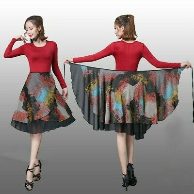 Latin Skirt Ladies Practice Dancing Skirts Bodycon Short Skirts Ballroom DA782