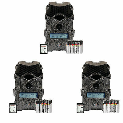 Wildgame Innovations Mirage 16MP Game Camera w/ SD Card & Batteries (3 Pack)