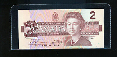 1986 Bank of Canada $2 Thiessen Crow UNC CO271