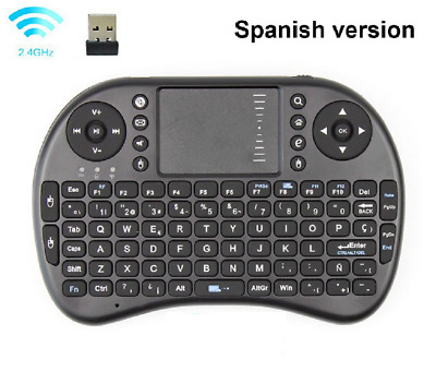 Spanish/English Mini Wireless Keyboard Touchpad Mouse For KD,PC,Android TV box
