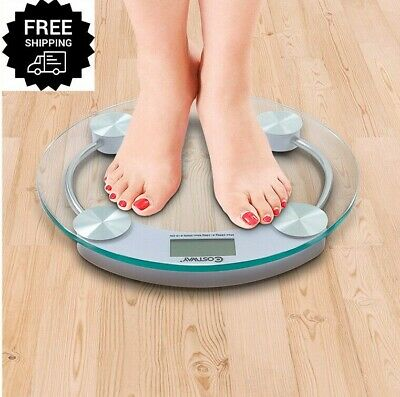 400lb Lcd Digital Body Weight Bathroom Scale Stalinite glass Auto-on/off