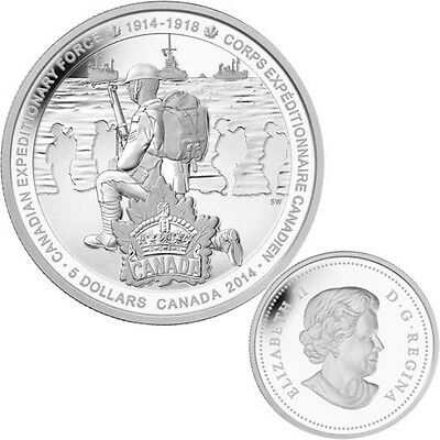2014 Canada $5 Fine Silver Coin - Canadian Expeditionary Force